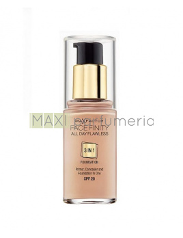 Max Factor Face Finity 3in1 Foundation SPF20 30 Porcelain, Make-up - 30ml